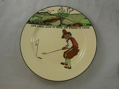 Vintage Royal Doulton Golfing Series Ware Plate Give Losers Leave To Speak D3395