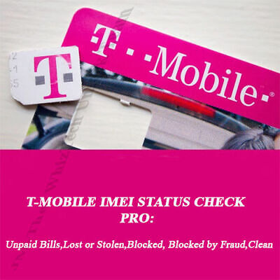 T-Mobile Usa Imei Clean/Blocked/Unpayed/Fraud Status Check Report Service - Pro