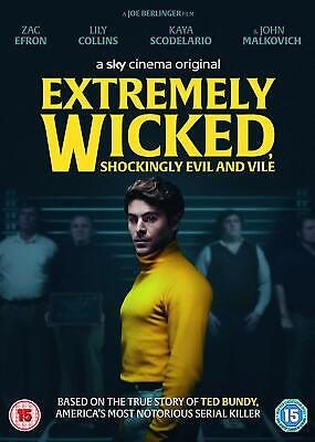 Extremely Wicked Shockingly Evil and Vile DVD (2019) NEW & SEALED. UK Region 2.