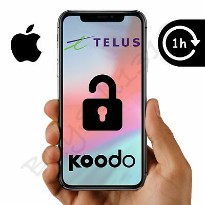 TELUS OR KOODO APPLE iPHONE UNLOCK - ANY MODEL - 1 HOUR OR LESS