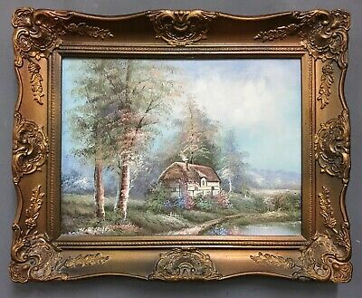 Large Original Oil On Canvas Painting In Gold Gilt Frame, Signed W Reynolds
