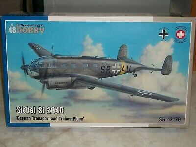 Special Hobby 100-SH48170 Siebel Si 204D German Transport and Trainer Plane in 1