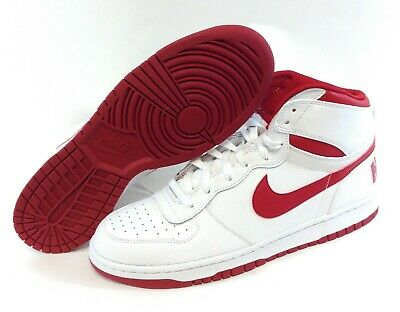MENS BIG NIKE High 336608 160 White Red Leather 2016