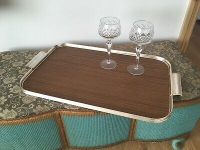 Vintage Retro Chic Large Serving Hostess Cocktail Drinks Tray