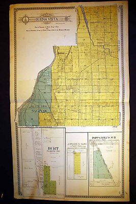 Buena Vista Blumfield Township Bridgeport Saginaw County Michigan 1910 Plat Map