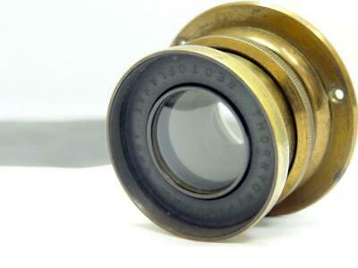 Antique THORNTON PICKARD RECTOPLANAT CAMERA LENS BRASS MANUAL APERTURE F 8 - 44