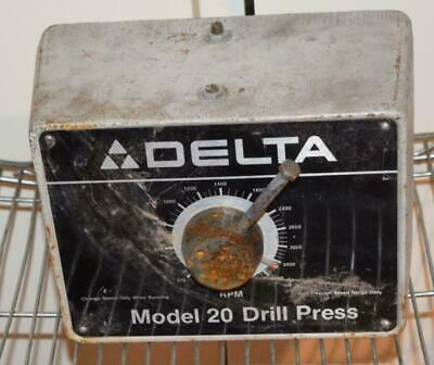 <Rt> Delta Model 20 Drill Press Cast Front Cover Variable Speed