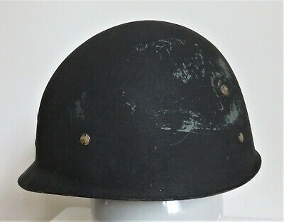 WW2 US Army, M1 - Helmet, Tortoise Pattern Liner with leather head band. Size 7.