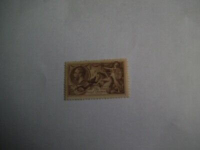 GB re engraved 2/6d seahorse stamp mnh