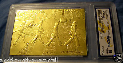 BEATLES Card Abbey Road contains 500 mg of Pure Solid Gold 60s Retro Pop Rock GB