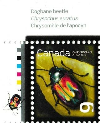 Canada 2410 Beneficial Insects Dogbane Beetle 9c corner single UL MNH 2010