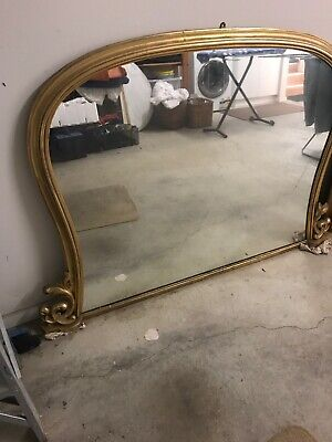 Gold Leaf French Old Mrror In Great Condition