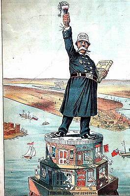 Statue of Liberty 1885 BARTENDER STATUE of LICENSE ALCOHOL Bribery Policeman Ale