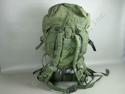 """US Army Style Military Large Canvas Backpack Set 30"""" Padded Olive Green Rucksack"""