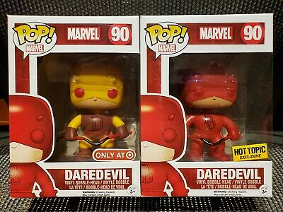 Funko Pop! Marvel Daredevil #90 Yellow &  Daredevil #90 Hot Topic Exclusive