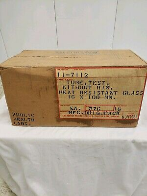 Pyrex Test Tube Kimble 576 count Without Rim 16 x 100mm *NEW IN BOX*