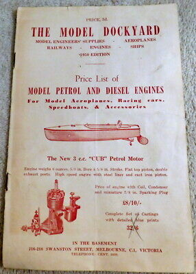 1950 - Vintage The Model Dockyard 8 Page Catalogue / Price List - Engines