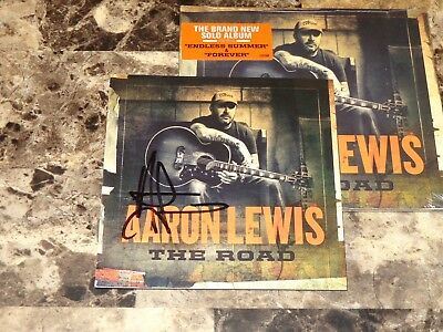 Aaron Lewis Rare HAND SIGNED CD The Road 2012 Staind Country Music Pre-sale COA