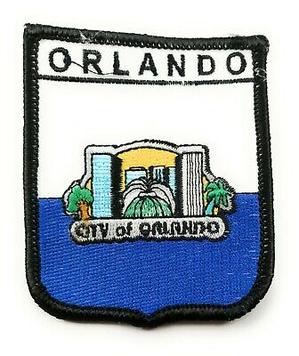 FREE UK P/&P City of Orlando Shield Embroidered Sew on patch