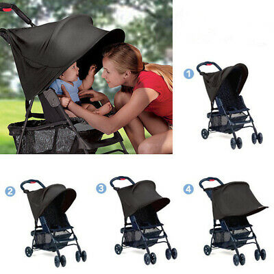 New Baby Sun Shade Canopy For Pushchair Stroller Pram Buggy Cover Hood Parasol