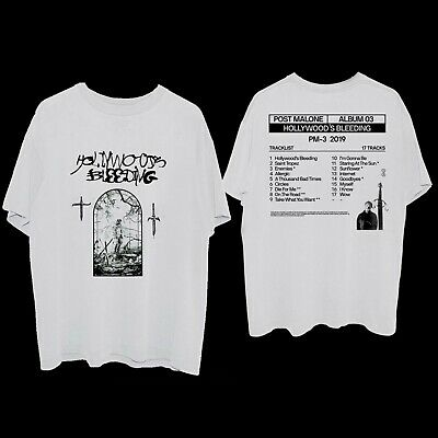 Post Malone Hollywood's Bleeding album Post standing & tracklist WHITE T-Shirt
