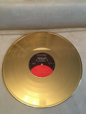 Beautiful vinyl record Metallica - Master of puppets for interior design