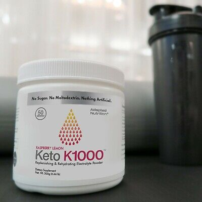 Keto K1000 Electrolyte Powder | Boost Energy & Beat Leg Cramps  | 50 Servings
