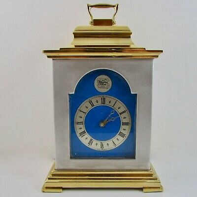 Thwaites And Reed - Silvered/Gilt Brass Bracket Clock