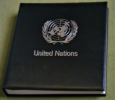 1969-92 United Nations Collection in Davo Album 28 Formatted Pages Clear Monts
