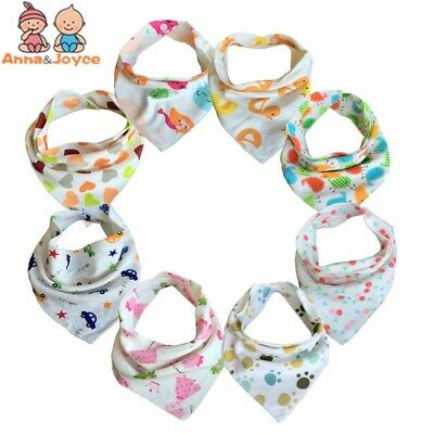 10pc/lot Baby Bibs 100% Cotton Triangle Head Scarf Kerchief for childrens