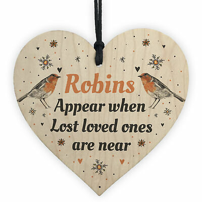 In Loving Memory Robins Appear Christmas Bauble Decoration Mum Dad Nan Keepsake