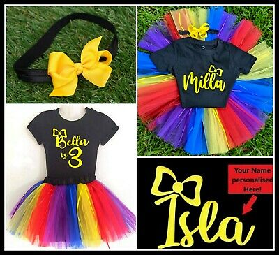 The Wiggles Costume Emma Wiggle Tutu Personalised Name Shirt Dress Party
