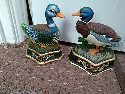 2 duck iron door stops 17cm tall please read desc