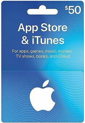 Apple App Store & iTunes $50 Physical Gift Card (Digital)