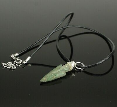 Quality Ancient Greek Bronze Arrow Head Necklace   Circa - 5Th Century Bc    01