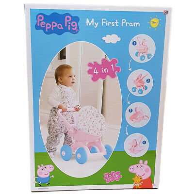 Peppa Pig 4-in-1 My First Pram For Baby Dolls