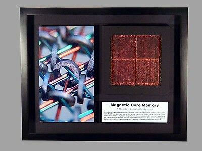Magnetic Core Memory - Image of magnetic core with core plane (HP)
