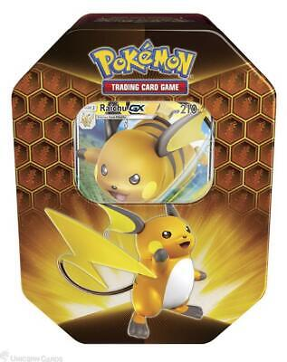 Pokemon TCG: Hidden Fates Tin - Raichu GX :: Brand New And Sealed!