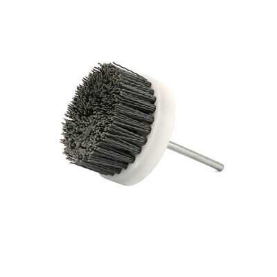 "3"" Abrasive Wire Brush Polishing Buffing Nylon Cup Rotary Tool 1/4"" Shank 180#"