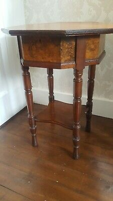 Victorian Mahogany & Walnut Sewing Table Circa 1880.