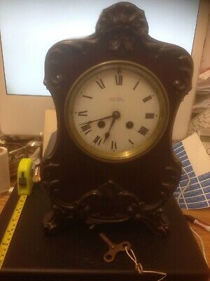 Antique French Movement Mantle Clock Reid & Sons Newcastle Gwo
