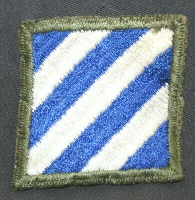 Original Ww2 Wwii U.s. Army 3Rd Infantry Division Cut Edge Patch