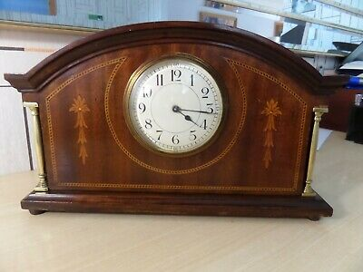Lovely French Made Mantle Clock In Super Running Condition With Original Key