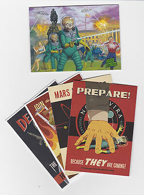 2013 Mars Attacks Invasion master set 1-95 base + 4 insert sets 116 total cards
