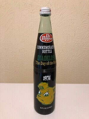 Baylor Bears 1974 SWC Football Champs Diadeloso Commemorative Dr. Pepper Bottle
