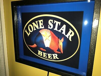 Lone Star Texas Armadillo Beer Tavern Bar Man Cave Advertising Lighted Sign