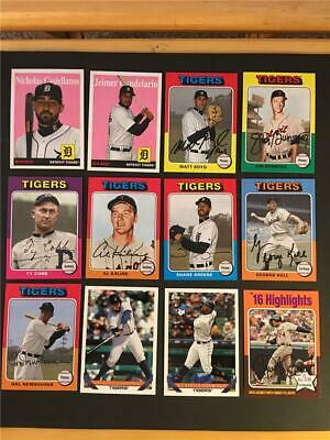 2019 Topps Archives Detroit Tigers Team Set 12 Cards With High Number SP