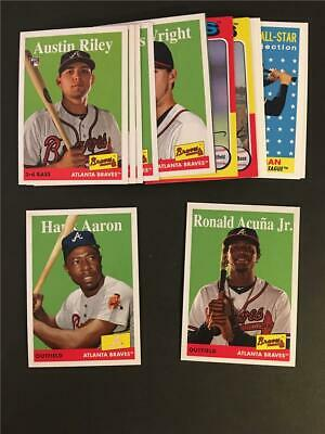 2019 Topps Archives Atlanta Braves Team Set 20 Cards With High Number SP