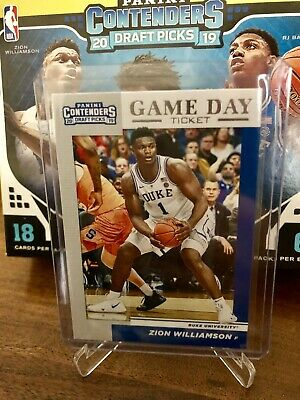 Zion Williamson RC Game Day Ticket 2019-20 Panini Contenders Draft Picks
