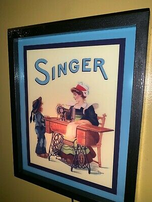 Singer Sewing Machine Seamstress Tailor Lighted Advertising Sign